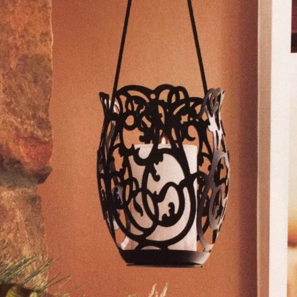 PAIR OF PARTYLITE COURUTRE HANGING CANDLE HOLDERS